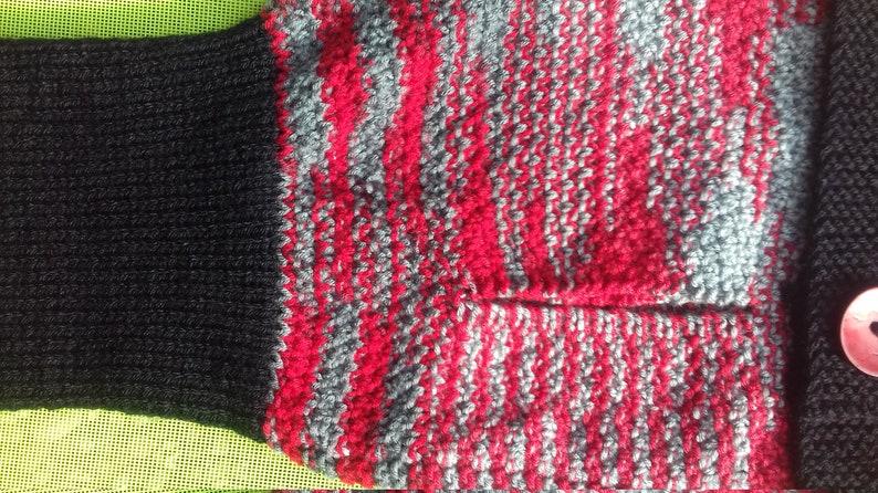 Hand knitted Aran dog jumper 3076cms