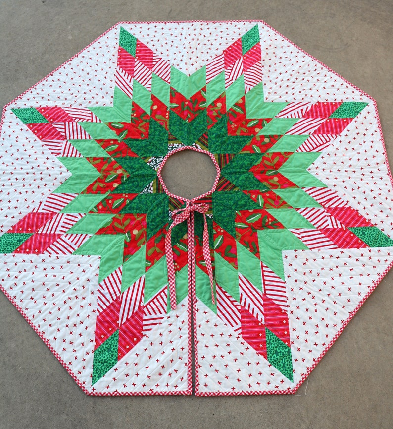 Lone Star Christmas Tree Skirt Pattern image 0
