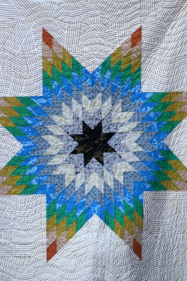 Mod Lone Star Quilt Pattern image 0
