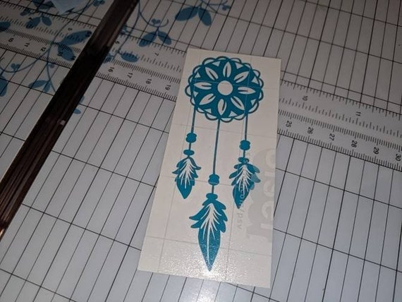 Dream Catcher With Paw Print Car or Truck Window Laptop Decal Sticker