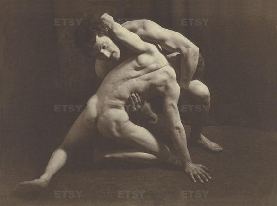 vintage nude wrestling