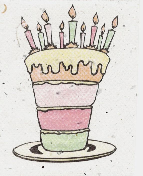 Sensational Birthday Card Funny Birthday Cake Cute Hatch Green Chile Etsy Personalised Birthday Cards Vishlily Jamesorg