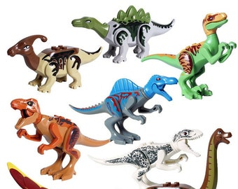 Jurassic World Dinosaur 8pc Custom Lego Set 77037 eb5e14494f7