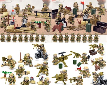 c009e055ce8 Military Marines Army Soldiers Set 100+ Equipment PCS Minifigures LOT Fits  Lego
