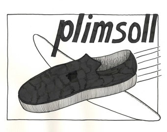 meet 586b4 aac28 Original Drawing from Fevertown - Plimsoll