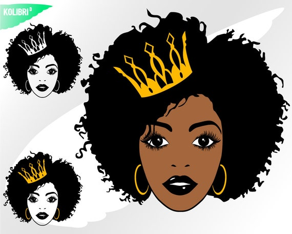 For Silhouette Afro Lady Svg Afro Woman SVG Afro Girl Svg Black Woman Curly Hair Svg Sublimation png Afro Queen Svg For Cricut