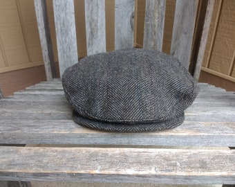 94e0a53ca1f Vintage Pendleton Tweed Newsboy Cap Brown 100% Pure Virgin Wool Size Large  Made in Portland Oregon USA