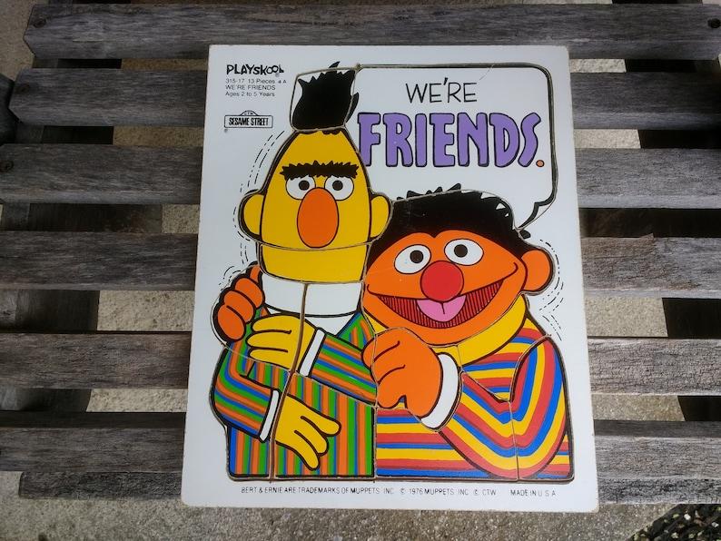 Vintage Playskool Jigsaw Puzzle Sesame Street Bert and Ernie