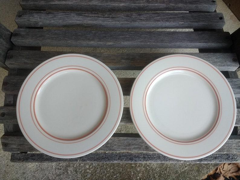Vintage Homer Laughlin Small Plates Salad Dessert Appetizer Diner Plates Set of 4 Numbered DDD-1 Made in USA