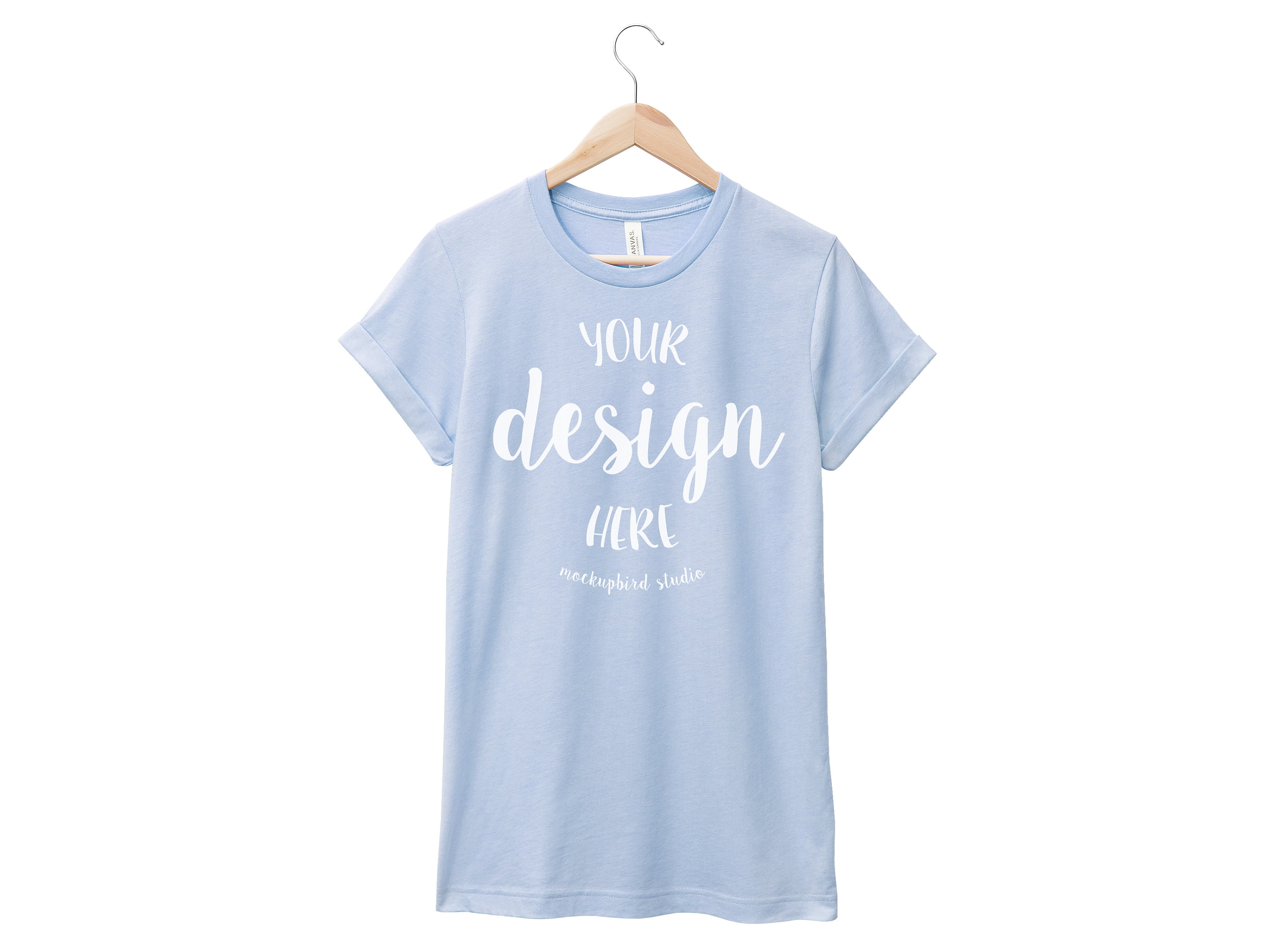 Bella Canvas 3001 Mockup T Shirt Mockup Heather Blue Tshirt Etsy