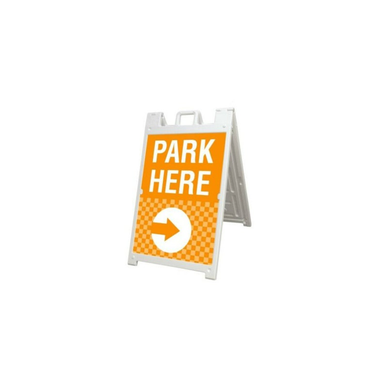 Signicade Sidewalk A Frame Pavement Sign Double Sided Deluxe White Sandwich Board 2/' X 3/'