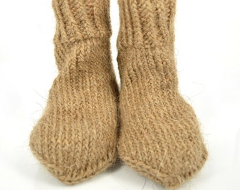 e846f9d51b3fe 100% wool, pure wool, hand knitted wool socks for children, camel wool socks,  knitted socks, socks for children, made in Russia, hand knit