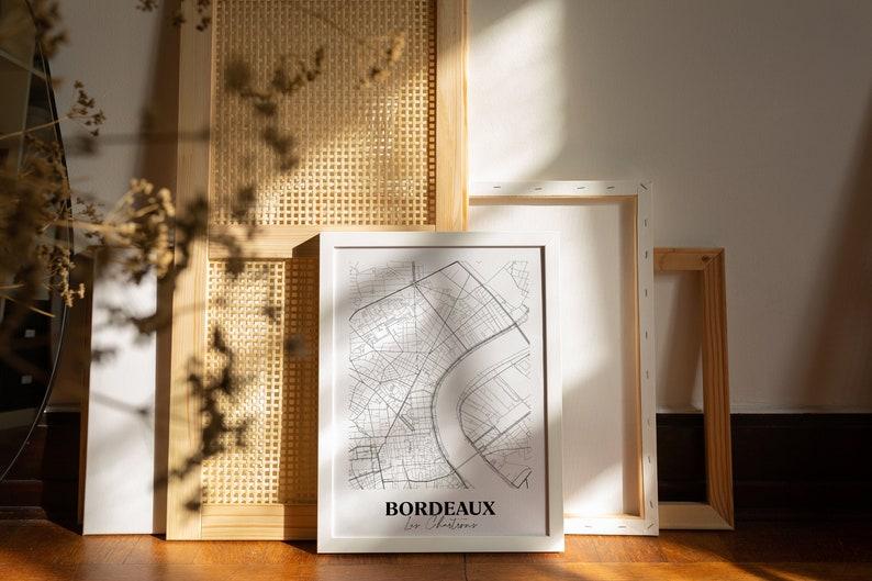 BORDEAUX Quais des Chartrons Carte originale de Bordeaux/ | Etsy