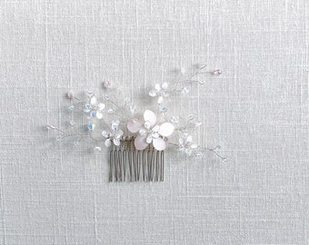 Bespoke Floral Hair Comb