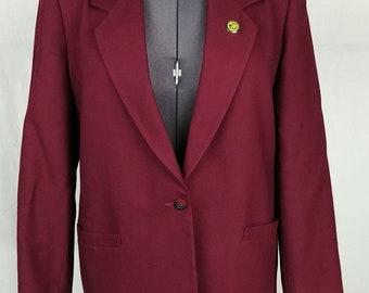 ff015671acd8a r1 John Meyer Blazer Women s Size 14 Single Button Oregon State Pin