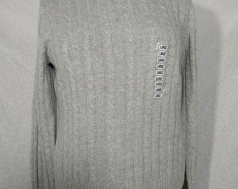 90a1709c35 NWT Womens Sz Large Gray Knit Sweater Great Northwest Cotton Blend