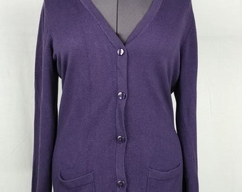 3c7eda6a3e Traditions Great Northwest Purple Cardigan Style Sweater Acrylic Women Size  L