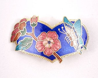 Cloisonne Clip Enamel Clip Floral Enamel Gifs for Her Mothers Day Scarf Clip Hat Clip Dress Clip
