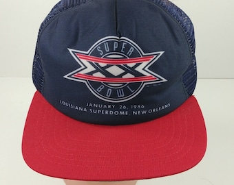 multiple colors c834c 1bf13 Super Bowl XX 20 Louisiana Superdome NFL Championship Game Hat Bears  Patriots
