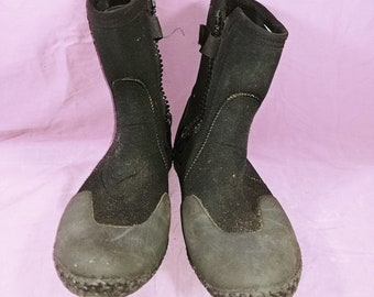 edc6bd4f2c Neo Sport Black Water Shoes Zip Up Womens Size 9