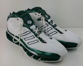 huge discount 1b2f9 23a59 Aidas Superstar Seattle Super Sonics Basketball Shoes Mens Size 20 Green  White