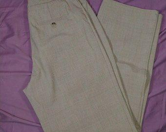 13c437f8ad4 Women s Dressbarn Stretch Brown Plaid Dress Pants Flat Front Size 8