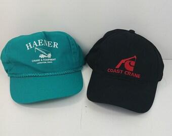 gc Haener Coast Crane Nissin Equipment Lot Baseball Snapback Cap Hat - Lot   1 3407ef626fc2