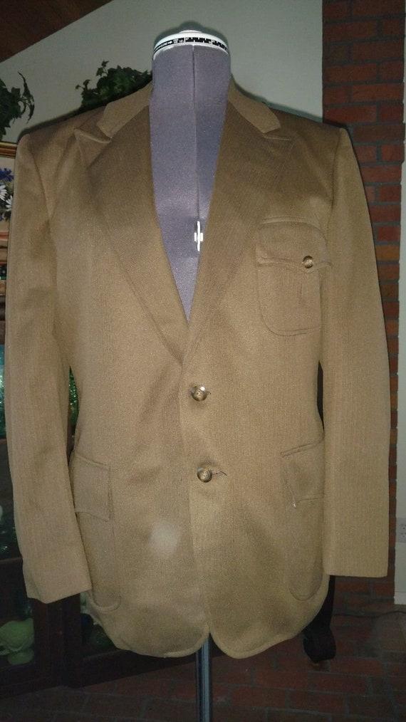 Forest Green Mens Blazer Suit Jacket H Bar C Ranch