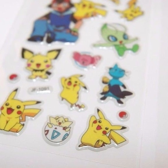 3 Sheets Puffy Stickers Japan Anime Cartoon Japanese Doraemon Lot #04