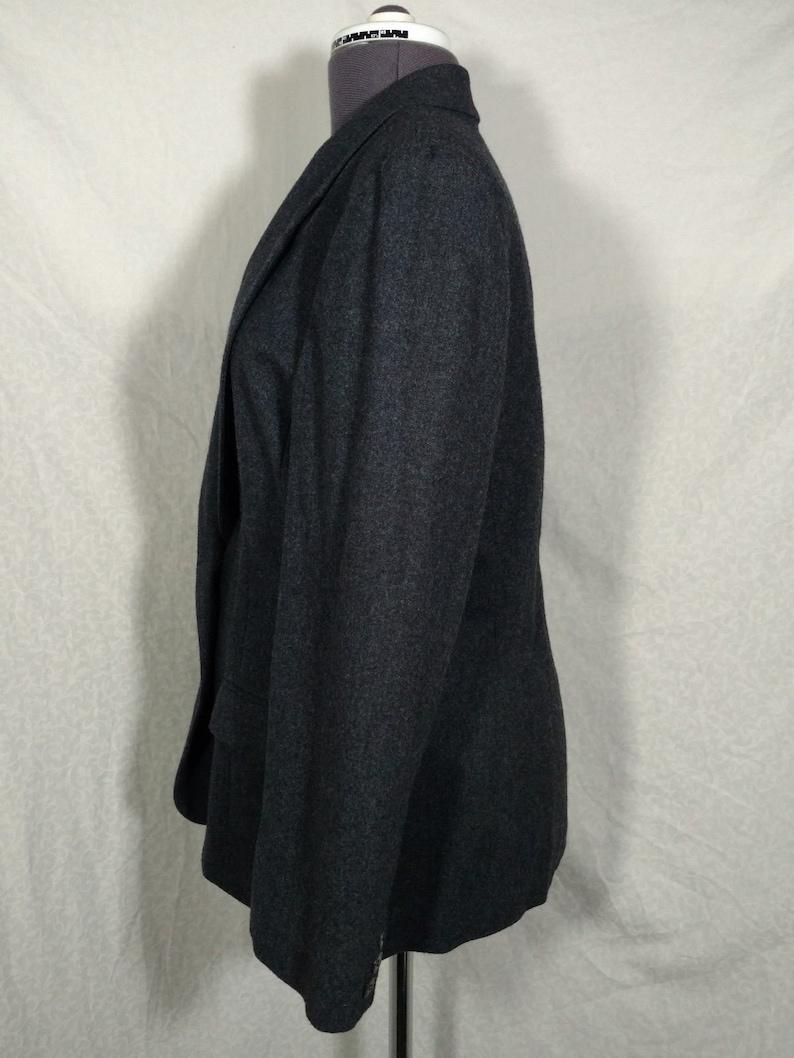 Womens Suit Coat Jacket Blazer Pendleton 100/% Wool Made in USA Dark Gray