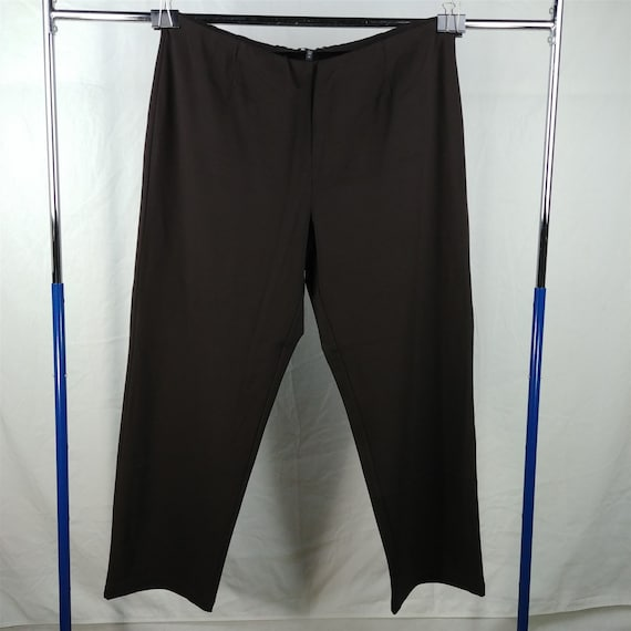 Eileen Fisher Brown Choco Straight Pants Casual Sl