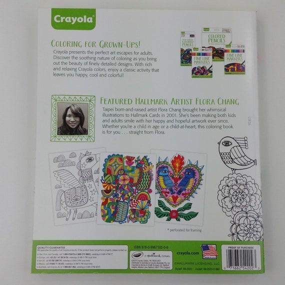 NEW LOT ADULT COLORING BOOKS PLUS BONUS COLORED PENCILS BY CRAYOLA// HALLMARK