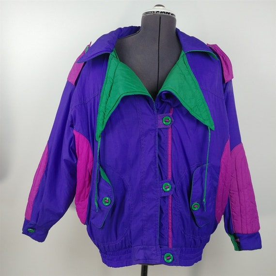 Gitano Outerwear Retro 1980s Ski Jacket Puffy Coat