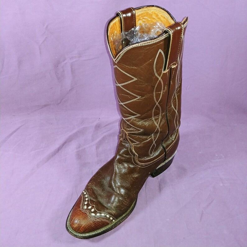 Brown Justin Cowboy Boots Mens 5 12 B