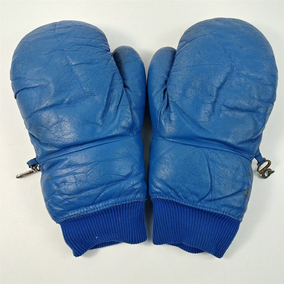 Grandoe Womens Blue Boxing Gloves Style Leather Sk