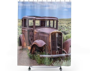 Antique 1932 Route 66 Studebaker Shower Curtain
