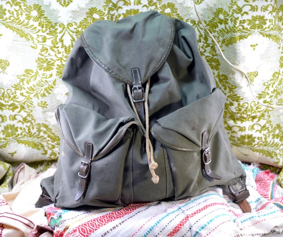 Hiking backpack Canvas backpack Camping backpack M