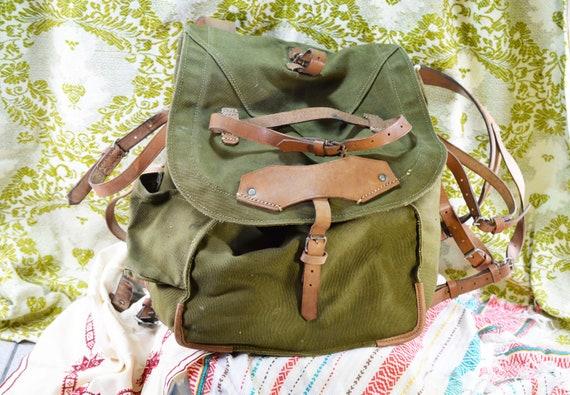 Military backpack Canvas backpack Vintage backpack