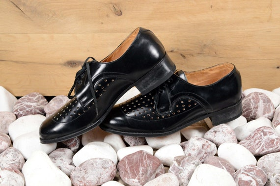 Oxford shoes men Leather shoes Men shoes Black lea