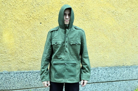 Canvas Anorak Military Army Anorak Military Jacket