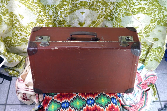 Vintage suitcase Travel suitcase Suitcase card box