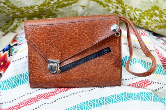 Leather wristlet Leather clutch Leather purse Wris