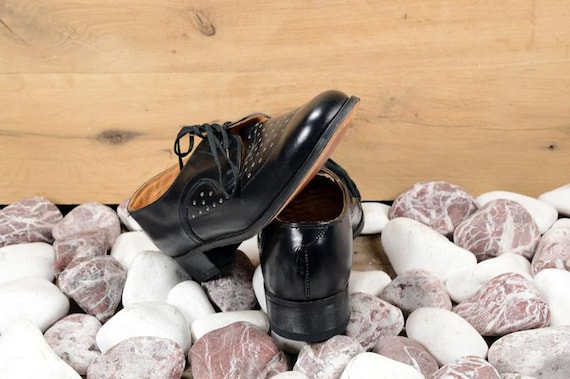 Oxford shoes men Leather shoes Men shoes Black le… - image 9