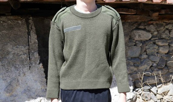 Military sweater Army sweater Vintage sweater Gree