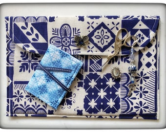 Mediterranean Tile Needlework Set - 5 pieces