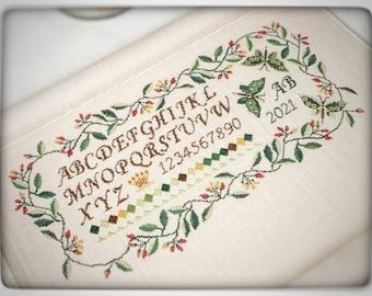 Le Jardin de Papillon cross-stitch chart