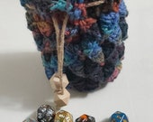 Muted Crochet Dragon Scale Dice Bag Dragon Egg Dice Bag
