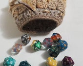 Brown Crochet Dragon Scale Dice Bag Dragon Egg Dice Bag