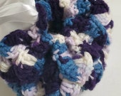 Purple and White Crochet Dragon Scale Dice Bag Dragon Egg Dice Bag Dragon Scale Dice Tray