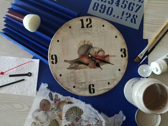 Materiale Per Shabby Chic.Orologio Da Parete Marinaro Mare Shabby Chic Wall Clock Sea